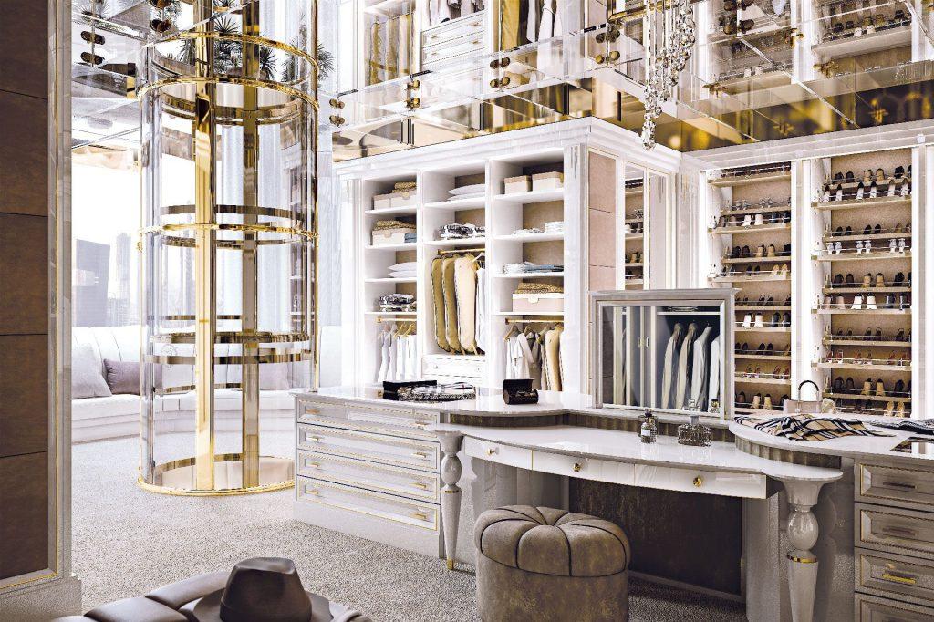 businessman luxury walkin wardrobe